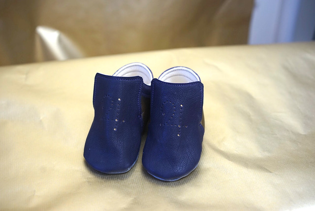 Babyschuhe dunkelblau
