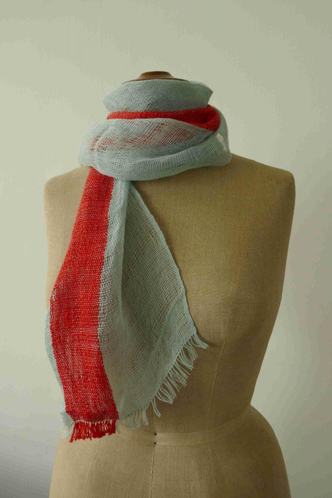 Farbenspiel Schal gewebt
