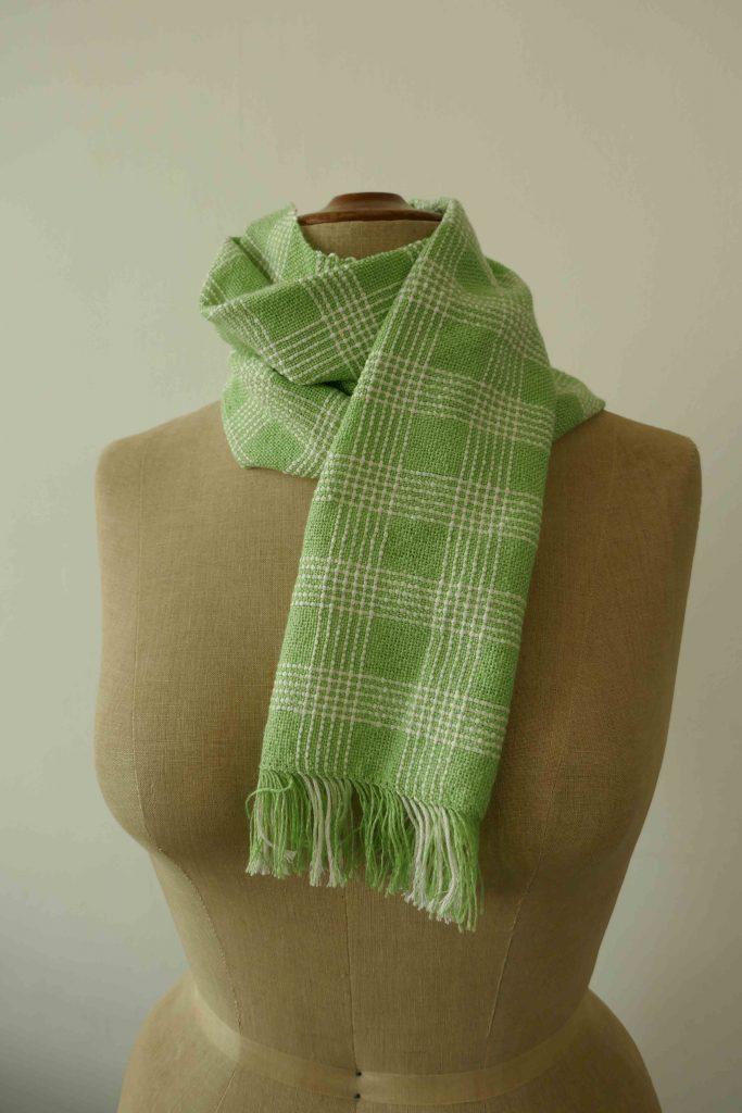 Schal grün-weiss