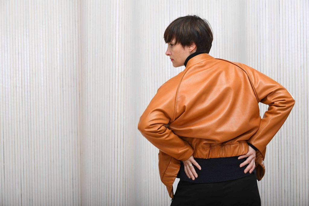 Lederjacke Rückseite