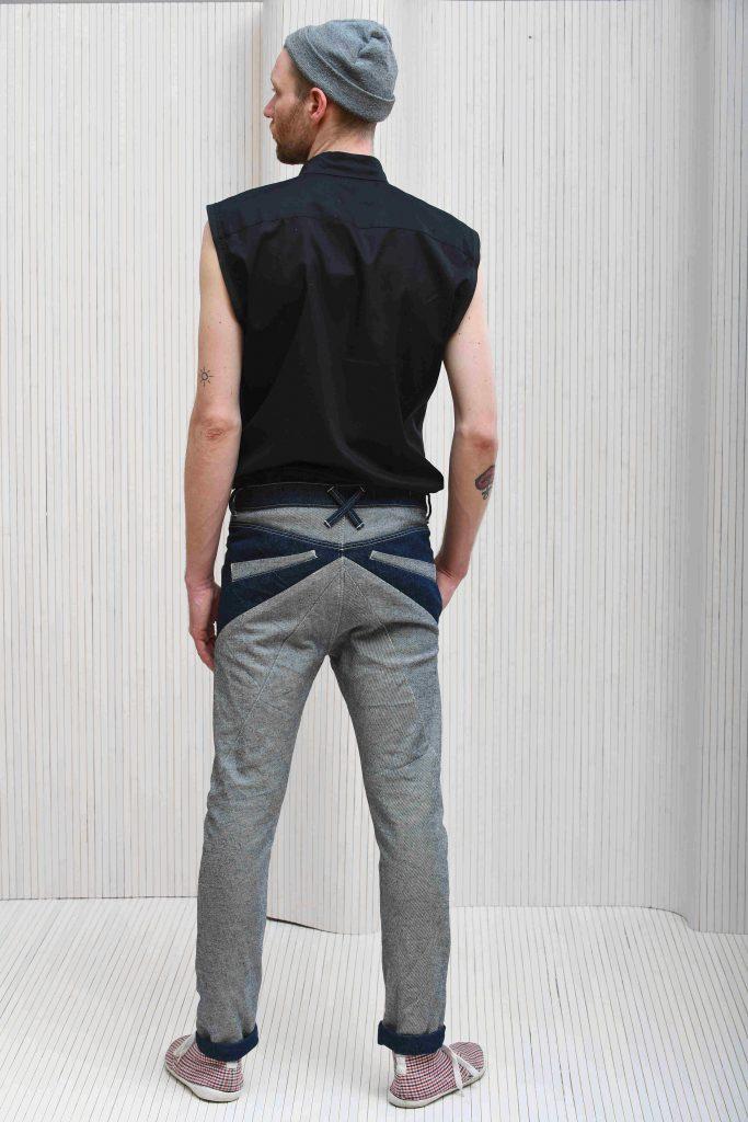Männerjeans Rückseite